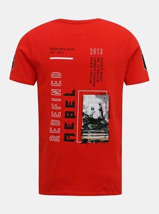 Červené tričko Redefined Rebel