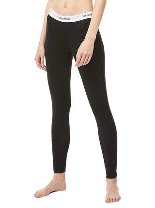Calvin Klein černé legíny Legging Pant s bílou gumou