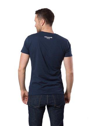 Differenta Design tmavo modré pánske tričko Majn Taktik Zkusit Šůšn