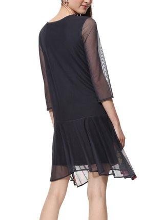 Desigual šedé šaty Vest Okonor