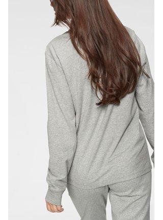 Calvin Klein šedé dámské tričko L/S Crew Neck s logem