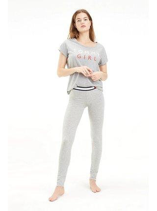 Tommy Hilfiger sivé tričko CN TEE SS s logom
