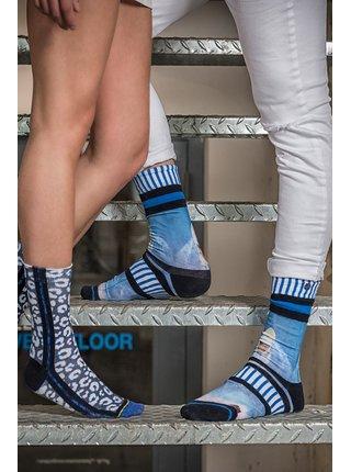 XPOOOS modré pánske ponožky Coastline