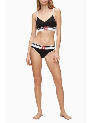 Calvin Klein čierna podprsenka Lightly Lined Bralette