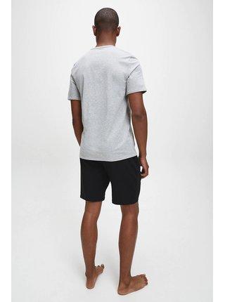 Calvin Klein sivé pánske tričko S/S Crew Neck