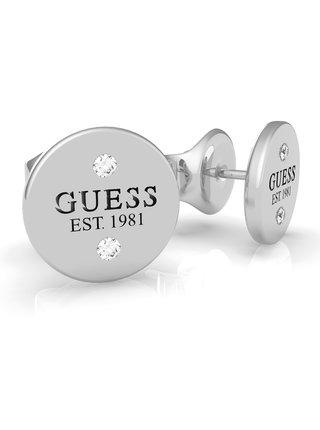 Guess stříbrné náušnice Guess L.A.