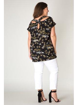 Yesta černé dámské tričko s průstřihy na zádech Jole