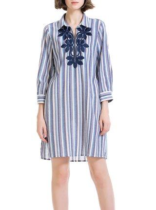 Anany pruhované košeľové šaty Ejido