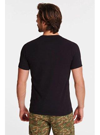 Guess čierne pánske tričko Logo Frontale