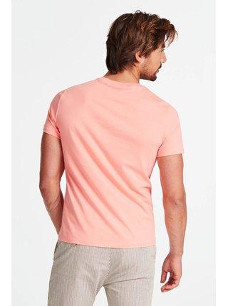 Guess lososové pánské tričko Stampa Piazzata