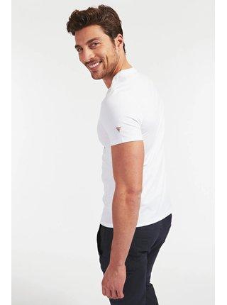Guess bílé pánské tričko Stampa Piazzata