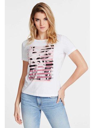 Guess bílé tričko Donna Stampa Piazzata