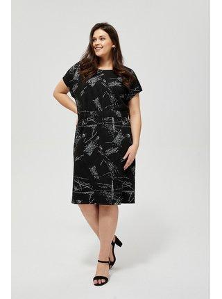 Moodo černé šaty s abstraktními motivy