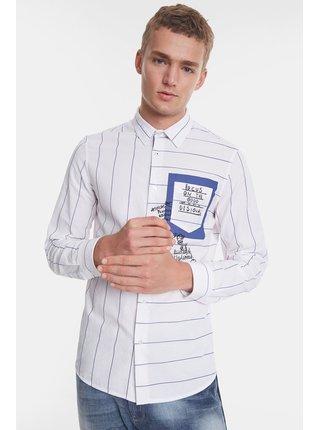 Desigual pruhovaná pánska košeľa Cam Darragh s vrecúškom