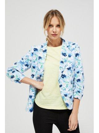 Moodo modro-bílé květinové sako