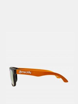 Čierno-oranžové pánske slnečné okuliare Meatfly