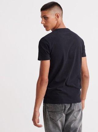 Černé pánské tričko s potiskem Superdry