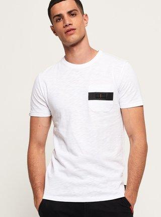 Biele pánske tričko Superdry