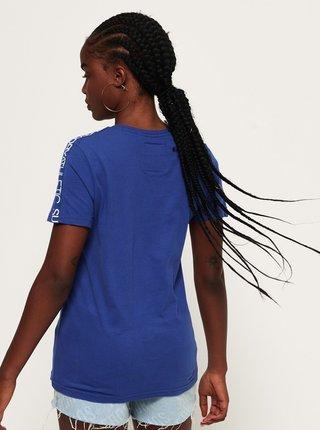 Modré dámské tričko s potiskem Superdry