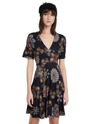 Desigual čierne šaty Vest Gogo s mandalami