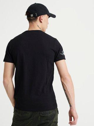 Čierne pánske tričko s potlačou Superdry