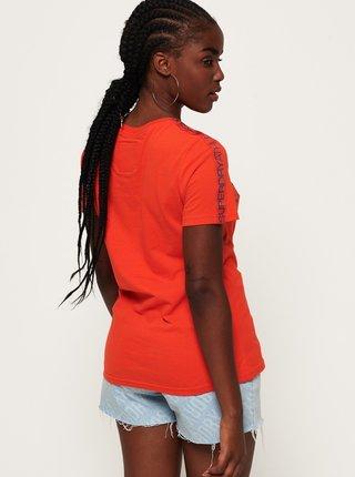 Oranžové dámske tričko s potlačou Superdry