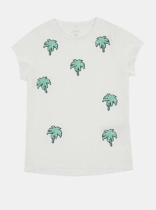 Bílé holčičí tričko name it Jamia