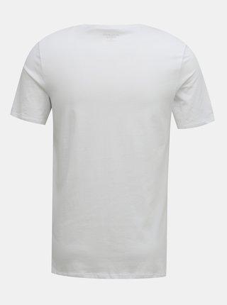 Bílé pánské tričko Jack & Jones
