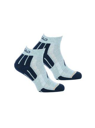 2PACK ponožky HEAD šedé