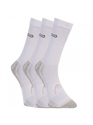 3PACK ponožky HEAD bílé