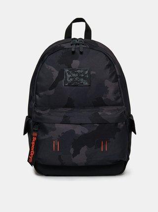 Čierny vzorovaný batoh Superdry