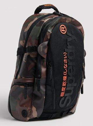 Hnedo-čierny vzorovaný batoh Superdry