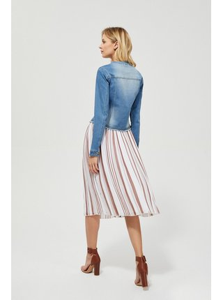 Moodo plizovaná midi sukně s pruhy
