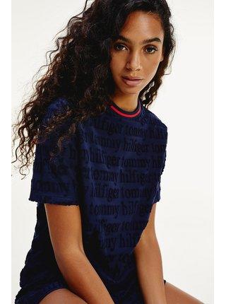 Tommy Hilfiger modré dámské tričko SS Logo Tee