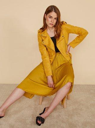 Horčicová plisovaná sukňa ZOOT Petra