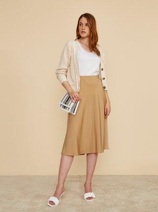 Béžová saténová midi sukně ZOOT Molly