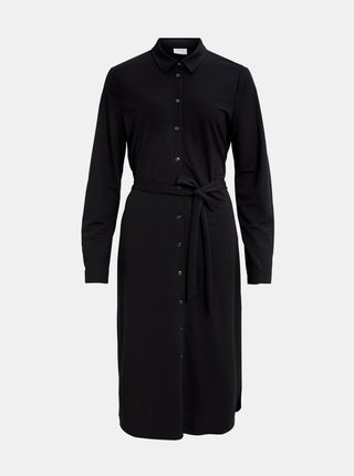 Černé košilové šaty VILA Safina