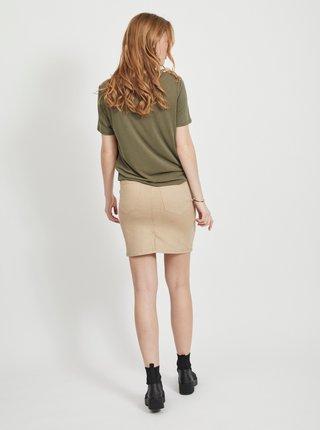 Khaki basic tričko .OBJECT Annie