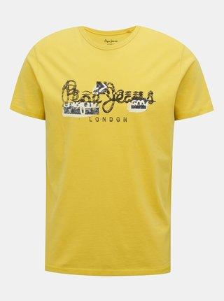 Žluté pánské tričko Pepe Jeans