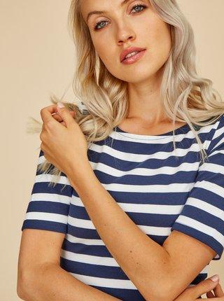 Bielo-modré pruhované basic šaty ZOOT Vanesa