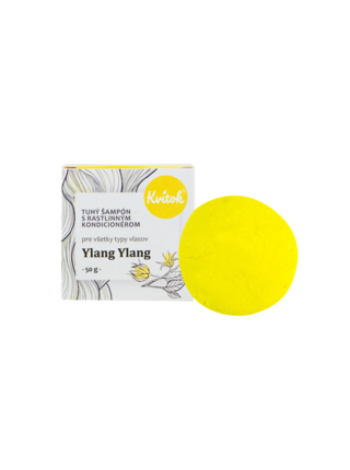 Přírodní tuhý šampón s kondicionérem Ylang Ylang XL 50 g Kvitok