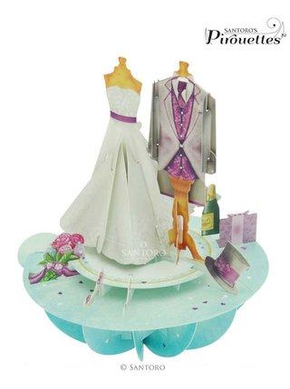 Santoro papierová 3D dekorácia Wedding