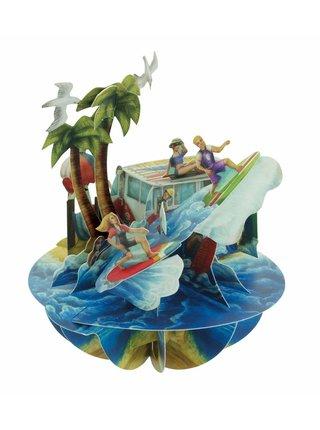 Santoro papierová 3D dekorácia Beach&Surfing