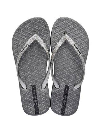 Ipanema sivo-strieborné žabky Glam Fem Silver