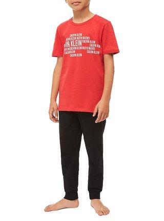 Calvin Klein červené chlapecké tričko Tee