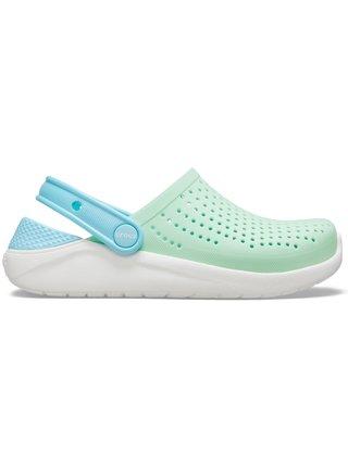 Crocs zelené unisex topánky LiteRide Clog Neo Mint/White