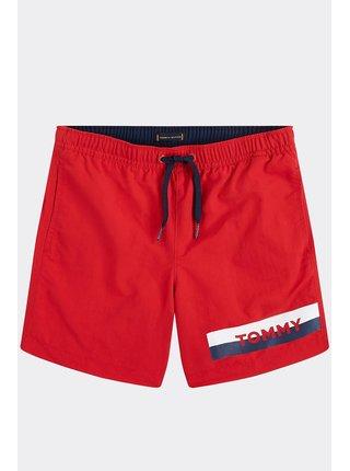 Tommy Hilfiger chlapčenské červené plavky Medium Drawstring