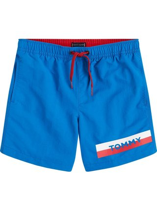 Tommy Hilfiger chlapčenské modré plavky Medium Drawstring Intense Blue