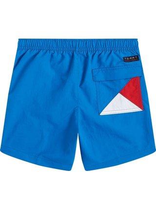 Tommy Hilfiger chlapecké modré plavky Medium Drawstring Intense Blue