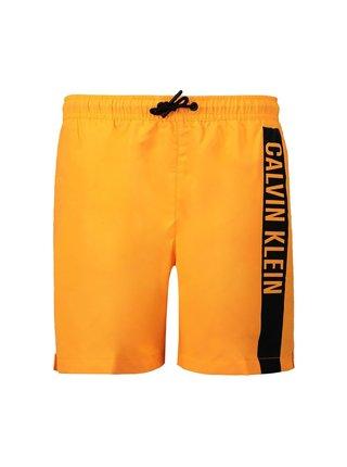 Calvin Klein oranžové chlapčenské plavky Medium Drawstring